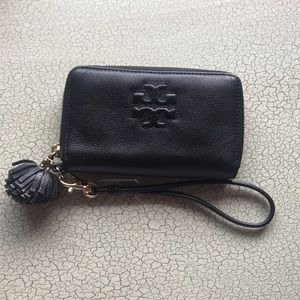 Tory Burch Black Wallet/ Wristlet